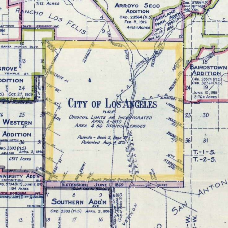 1916 Map of Los Angeles
