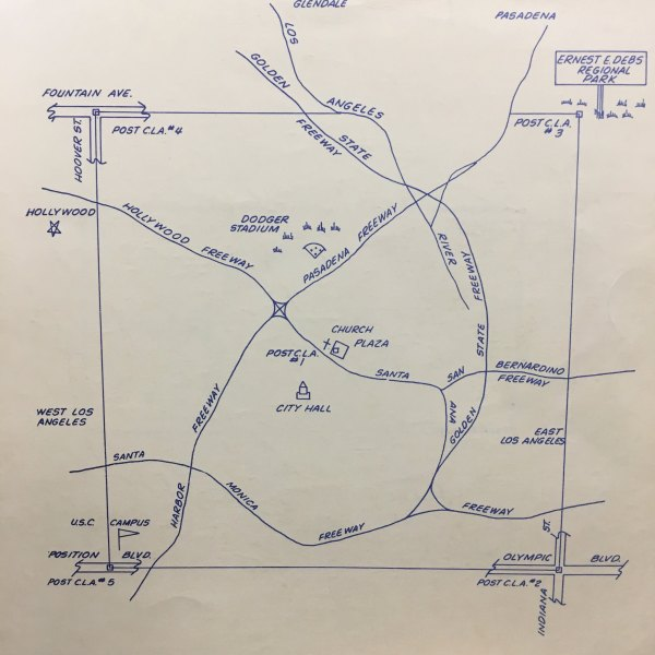 Map of Original Border of Los Angeles